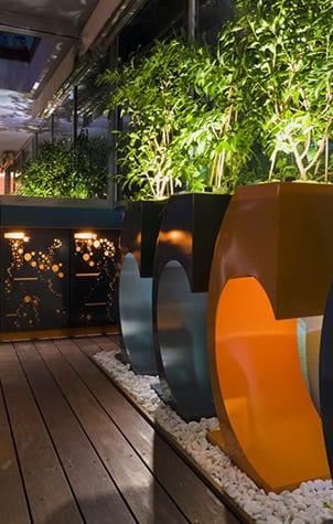 Garden in a modern design in Tel Aviv